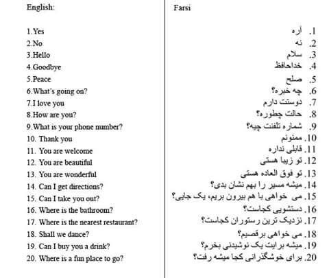 Persian language essay writing