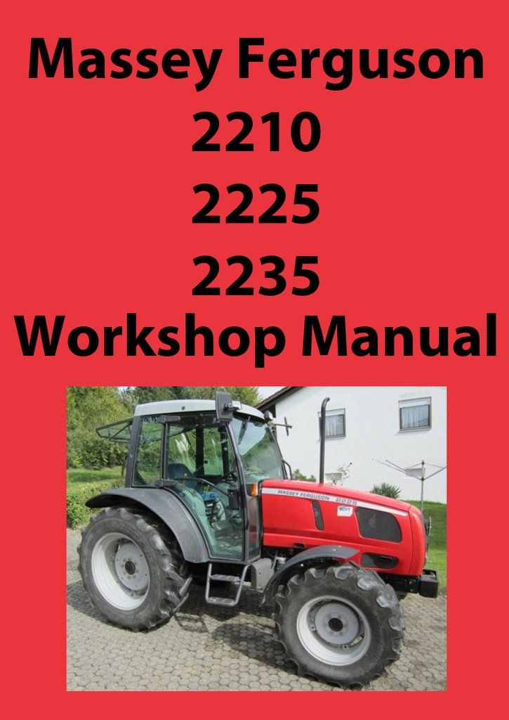 Massey Ferguson 8100 series tractor factory workshop and